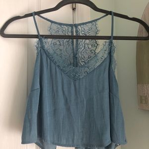 Forever 21 Lace Back Crop Top
